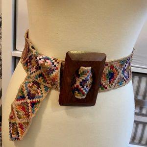 Anthropologie Aztec multicolored belt!